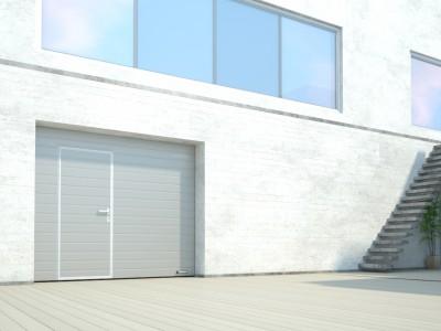 Porte de garage refoulement plafond